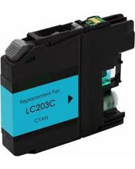 Compatible Brother LC203 High Yield Cyan Ink Cartridge (Brother LC203C)