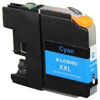 Compatible Brother LC205 Super High Yield Cyan Ink Cartridge (Brother LC205C)