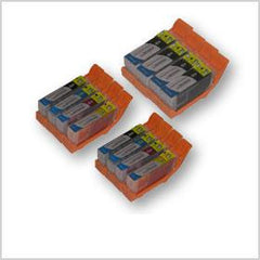 Combo Set of 12pcs Canon PGI220 and CLI221 Compatible Cartridges (PGI220BK x 4 and CLI221 BK/C/M/Y x 2 each)