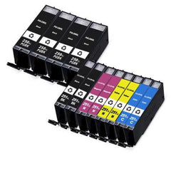 Combo Set of 12pcs Canon PGI250XL and CLI251XL Compatible Cartridges (PGI250XLBK x 4 and CLI251XL BK/C/M/Y x 2 each)