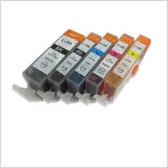 Combo Set of Canon PGI225 and CLI226 Compatible Cartridges (PGI225BK x 1 and CLI226 BK/C/M/Y x 1 each)
