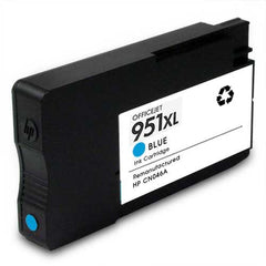 Remanufactured HP 951XL High Yield Cyan Ink Cartridge (HP CN046AN)