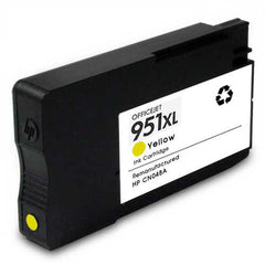 Remanufactured HP 951XL High Yield Yellow Ink Cartridge (HP CN048AN)