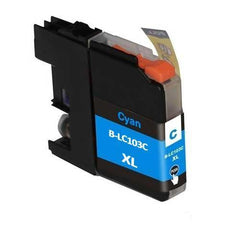 Compatible Brother LC103 High Yield Cyan Ink Cartridge (Brother LC103C)