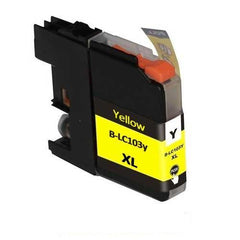 Compatible Brother LC103 High Yield Yellow Ink Cartridge (Brother LC103Y)