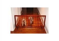 Step Over Gate - Walnut Pet Gate - ZoeDoggy of Beverly Hills