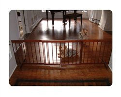 Step Over Pet Gate Extension - Walnut - ZoeDoggy of Beverly Hills