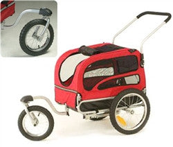Solvit Jogging/Stroller Kit for Medium Houndabout II Track'r Bicycle Trailer *KIT ONLY - TRAILER SOLD SEPARATE* - ZoeDoggy of Beverly Hills