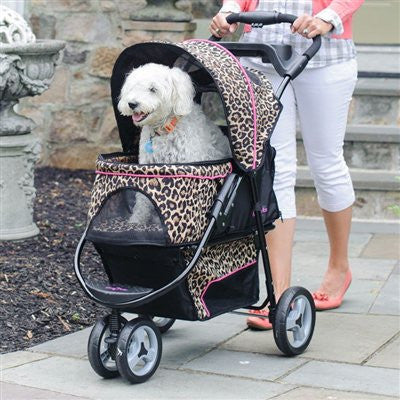 Cheetah Promenade(tm) Stroller for pets up to 50 lbs. - ZoeDoggy of Beverly Hills