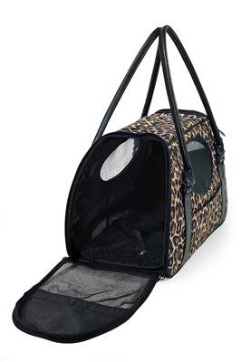 Carry-Me(tm) DELUXE Cheetah Pet Carrier - ZoeDoggy of Beverly Hills