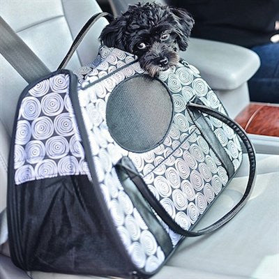Carry-Me(tm) DELUXE Black Onyx Pet Carrier - ZoeDoggy of Beverly Hills