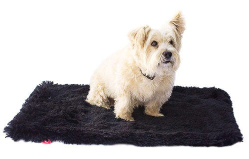 Black Powder Puff Minkie Binkie Blanket by Dog Squad - ZoeDoggy of Beverly Hills