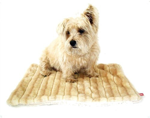 Camel Mink All Plush Crate Liner by Dog Squad - ZoeDoggy of Beverly Hills