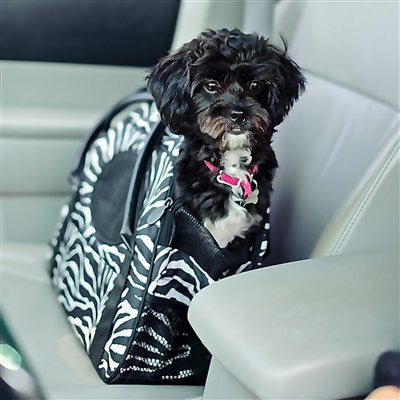 Carry-Me(tm) DELUXE Zebra Pet Carrier - ZoeDoggy of Beverly Hills