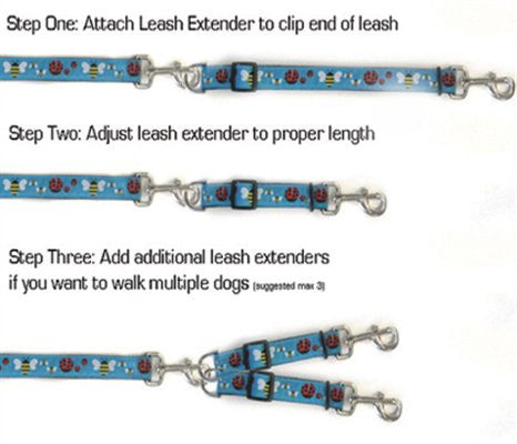 Diva-Dog Cherries Leash Extenders - ZoeDoggy of Beverly Hills