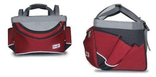 Sporty Bike Basket - Red/Black/Grey - ZoeDoggy of Beverly Hills