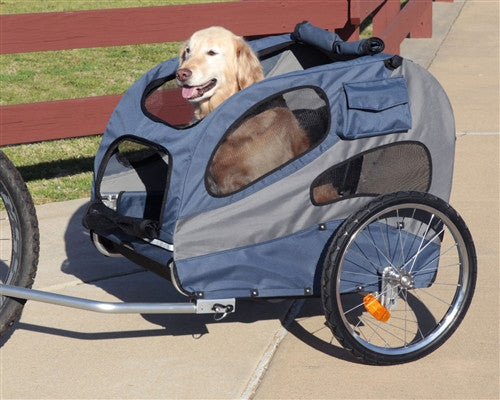 HoundAbout CLASSIC Bicycle Trailer - Large (steel) 40 lbs - ZoeDoggy of Beverly Hills