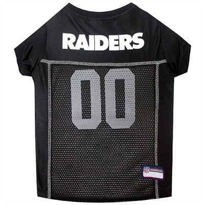 NFL Oakland Raiders Dog Jerseys - ZoeDoggy of Beverly Hills