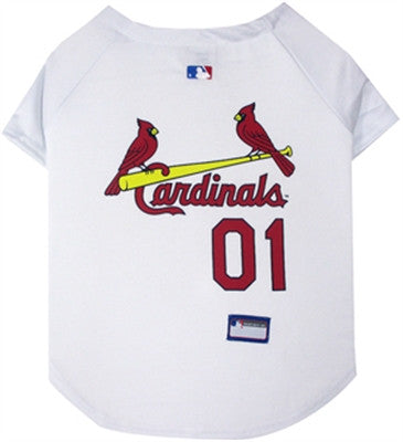 St. Louis Cardinals Dog Jersey - White - ZoeDoggy of Beverly Hills