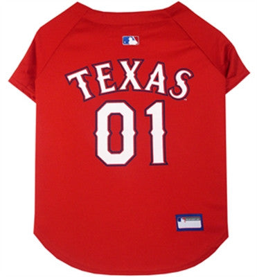 Texas Rangers Dog Jersey - ZoeDoggy of Beverly Hills