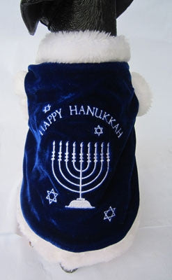 Happy Hanukkah Dog Costume