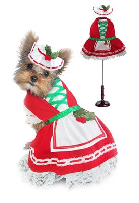 Holly Christmas Dog Dress