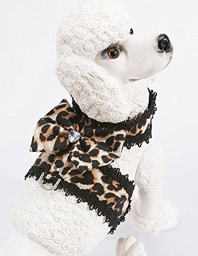 Leopard Print Mini Harness - ZoeDoggy of Beverly Hills