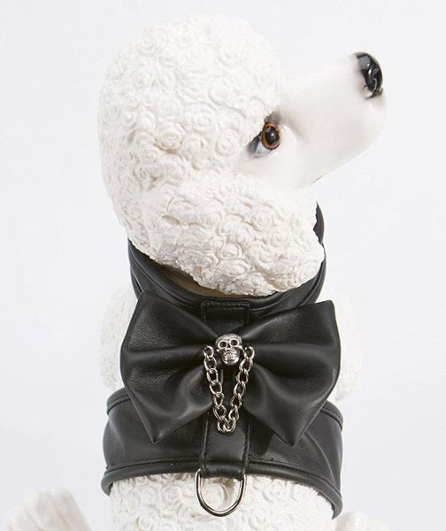 Faux Leather Mini Skull Harness - ZoeDoggy of Beverly Hills