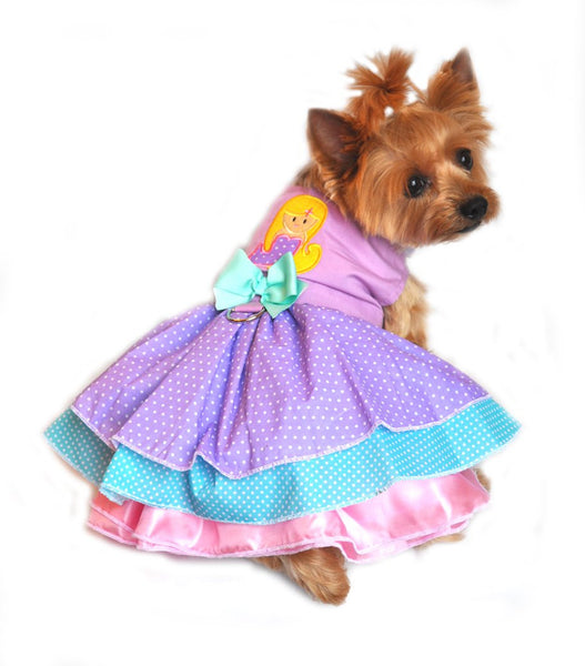 New Velcro Dresses - Lavender Polka Dot Mermaid Dress - ZoeDoggy of Beverly Hills