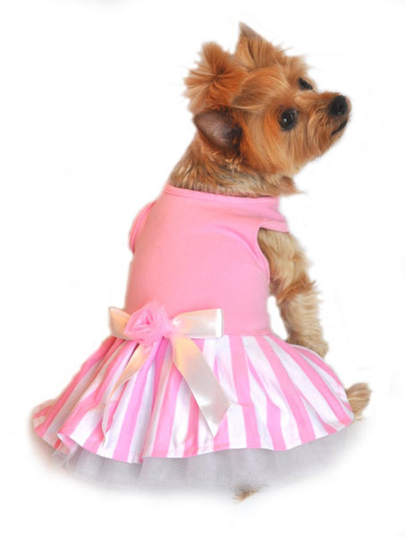 New Tank Dress - Pink Striped Tank Dress - ZoeDoggy of Beverly Hills