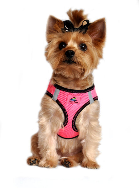 American River ARH Top Stitch Harness Choke Free - Iridescent Pink - ZoeDoggy of Beverly Hills