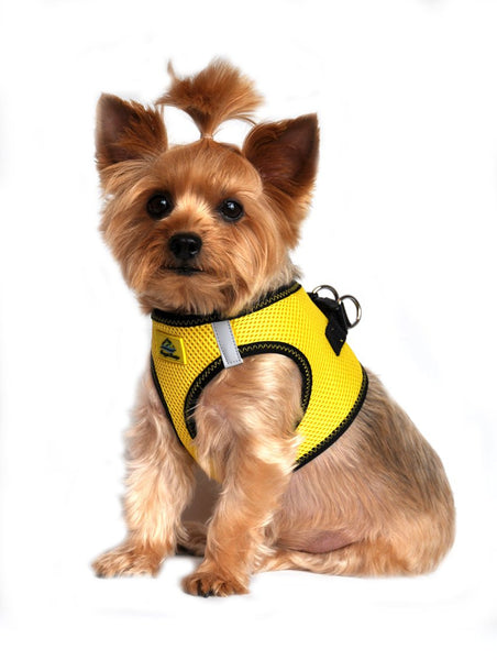 American River ARH Top Stitch Harness Choke Free - Vibrant Yellow - ZoeDoggy of Beverly Hills