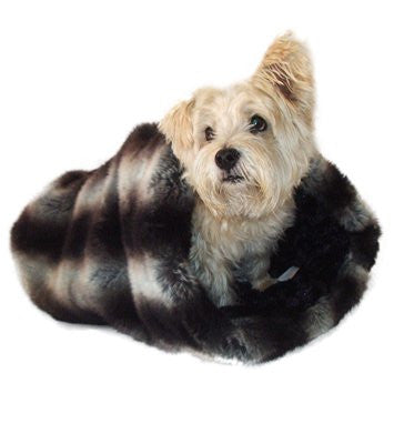 Chinchilla Luxury Cozy Sak Dog Bed - ZoeDoggy of Beverly Hills