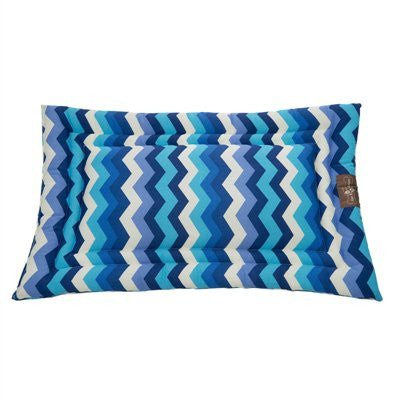 Jax and Bones Cozy Mat Dog Bed - Occasional Outdoor Wave Azure - ZoeDoggy of Beverly Hills