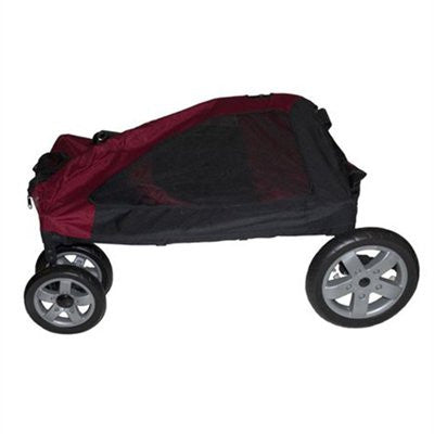 Expedition Pet Stroller-Burgundy by Pet Gear - ZoeDoggy of Beverly Hills