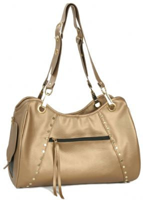 Gold Genevieve Doggy Handbag by Petote - ZoeDoggy of Beverly Hills