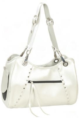 Platinum Genevieve Doggy Handbag by Petote - ZoeDoggy of Beverly Hills