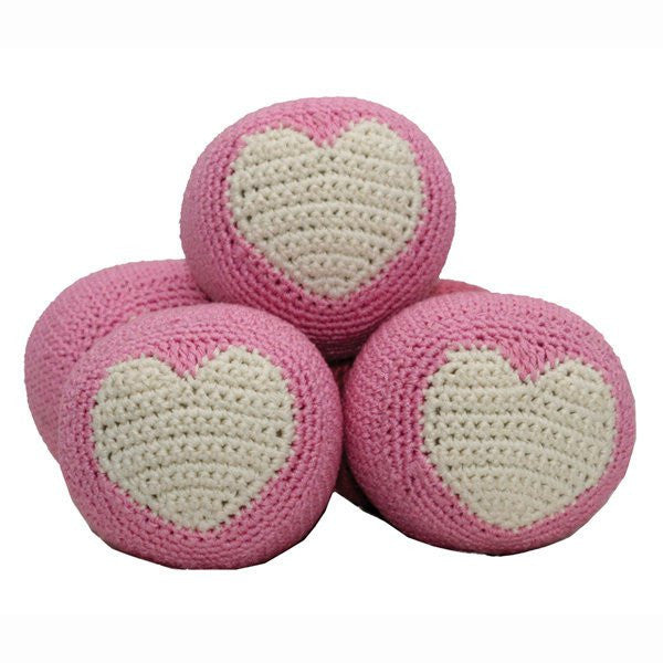 Dental Dog Toy: Hip Doggie Organic Cotton Crochet Ball - ZoeDoggy of Beverly Hills