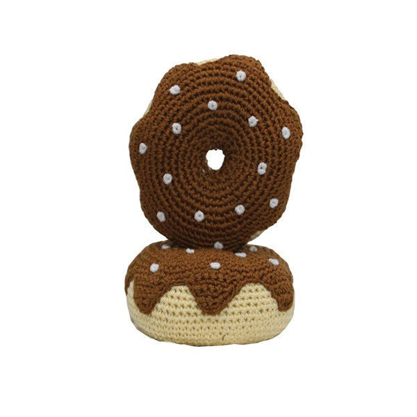 Dental Dog Toy: Hip Doggie Organic Cotton Crochet Donut - ZoeDoggy of Beverly Hills