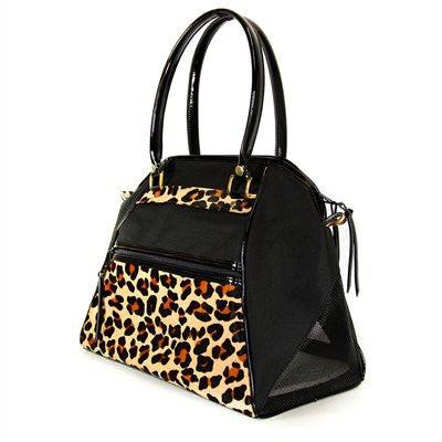 Leopard Haylee Doggy Handbag by Petote - ZoeDoggy of Beverly Hills