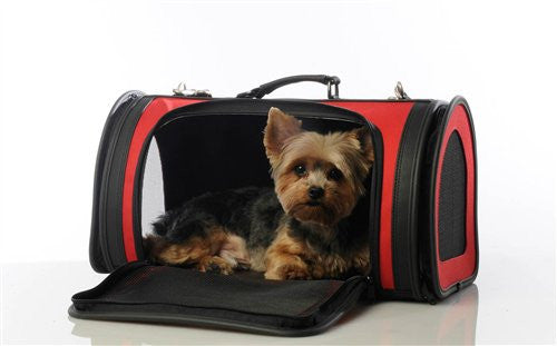 Red Kelle Dog Carrier Bag by Petote - ZoeDoggy of Beverly Hills