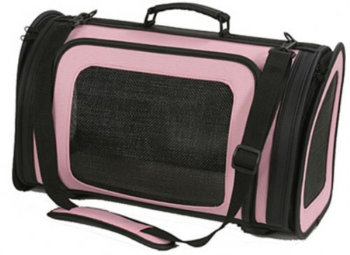 Pink & Black Kelle Dog Carrier by Petote - ZoeDoggy of Beverly Hills