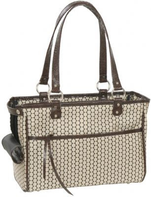 Noir Dots Lucky Doggy Handbag by Petote - ZoeDoggy of Beverly Hills