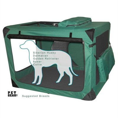 Large Deluxe Soft Crate, Generation II - Moss Green by Pet Gear - ZoeDoggy of Beverly Hills