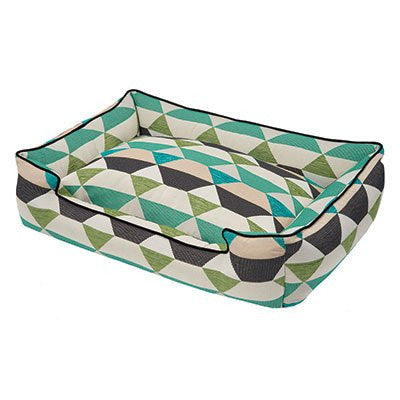 Jax and Bones Lounge Dog Bed - Origami Pear - ZoeDoggy of Beverly Hills
