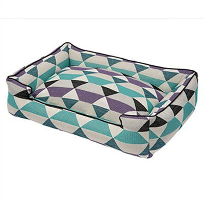 Jax and Bones Lounge Dog Bed - Origami Plum - ZoeDoggy of Beverly Hills