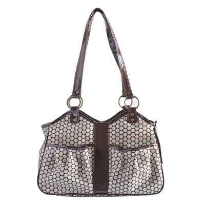 Noir Dot Metro 2 Doggy Handbag by Petote - ZoeDoggy of Beverly Hills