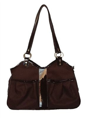 Chocolate Brown Metro Classic Doggy Handbag by Petote - ZoeDoggy of Beverly Hills