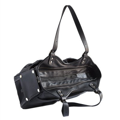 Black Metro Midnight Doggy Handbag by Petote - ZoeDoggy of Beverly Hills