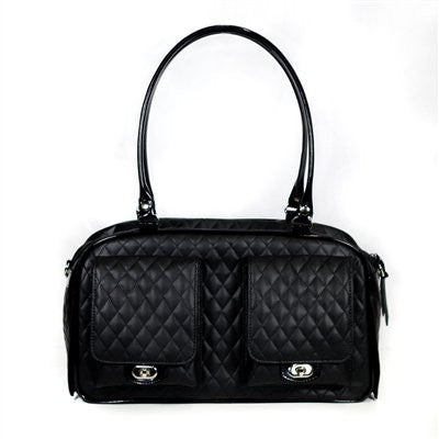 Black Marlee Bag Doggy Handbag by Petote - ZoeDoggy of Beverly Hills